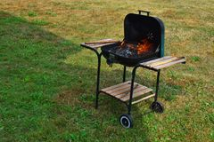 Empty flaming charcoal stock photos