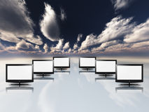 Empty flat panels Stock Images