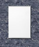 Empty Flipchart On Wall. Stock Photo