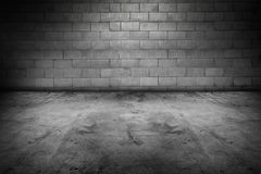 Floor and wall. Empty floor and blank wall Stock Image