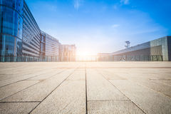 Empty floor and modern building Stock Images