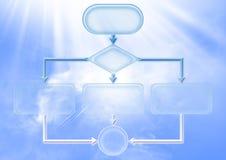 Empty flow chart diagram Stock Photo