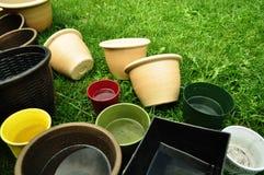 Empty flower pots Stock Image