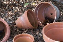 Empty Flower Pots Royalty Free Stock Photos