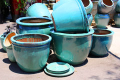 Empty flowerpots Royalty Free Stock Photography