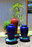 Empty flowerpots Stock Image