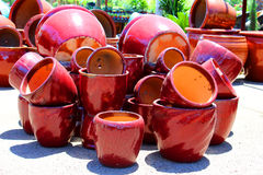 Empty flowerpots Royalty Free Stock Photos