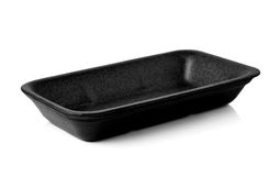 Empty foam food container Stock Photography