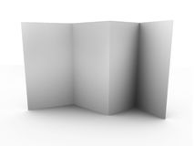 Empty folded leaflet. Isolated folded blank paper with shadow. Can be used for leaflet modeling Royalty Free Stock Photos