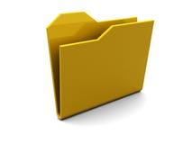 Empty folder icon Stock Images