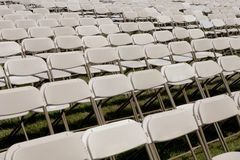 Empty folding chairs Stock Image