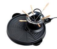 Empty fondue tools stove isolated  Stock Image