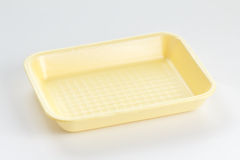 Empty food tray on white background Royalty Free Stock Images