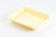 Empty food tray on white background Royalty Free Stock Image