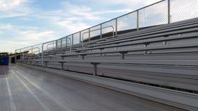 Empty football bleachers Royalty Free Stock Photography