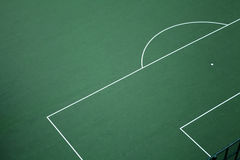 Empty football court top view Royalty Free Stock Image