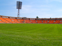 Empty football field Stock Image