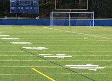 Empty football field Stock Image