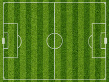Empty football field with markup Royalty Free Stock Images