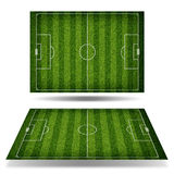 Empty football field with markup Royalty Free Stock Photo