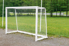 Empty football goal Stock Images