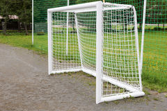 Empty football goal Royalty Free Stock Photography