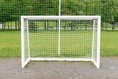 Empty football goal Stock Image