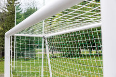 Empty football goal Stock Photo