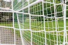Empty football goal Royalty Free Stock Photo
