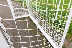 Empty football goal Royalty Free Stock Photos