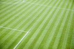 Empty Football Pitch Royalty Free Stock Photos