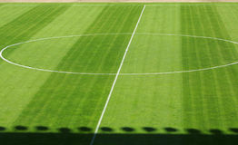 Empty football soccer field Royalty Free Stock Image