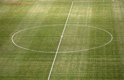 Empty football / soccer pitch Stock Images