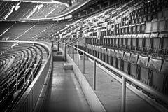 Empty football, soccer stadium stock photos