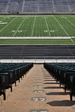 Empty Football Stadium. Perfect image of an empty football stadium waiting for the big game day Royalty Free Stock Photos