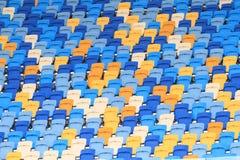 Empty football stadium. Stock Photos