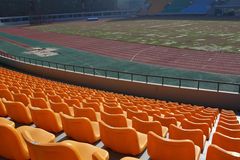 Empty football stadium Stock Images
