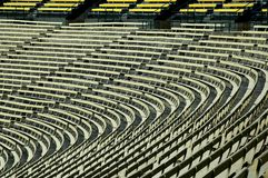 Empty football stadium. Royalty Free Stock Image
