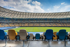 Empty football stadium Stock Photos