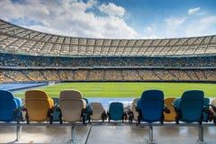 Empty football stadium Stock Photos