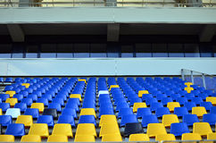 EMPTY FOOTBALL STADIUM SEATS Royalty Free Stock Photography
