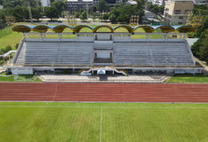 Empty of football stadium stock image