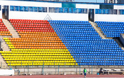 Empty football stadium and tribunes Stock Image