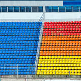 Empty football stadium  tribunes Stock Image