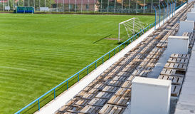 Empty football stadium and tribunes Stock Images