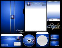 Empty forms and blue corporate style. Royalty Free Stock Photography