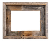 Empty frame. Empty old barn wood frame Royalty Free Stock Images