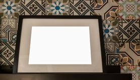 Empty Frame Blank Advertisement Banner Poster Mock Up Isolated Template Clipping Path royalty free stock image