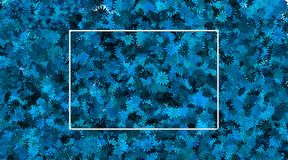 Empty frame and blue flower background stock photos