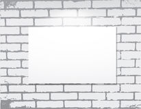 Empty frame on a brick wall.  Art gallery. Stock Photo